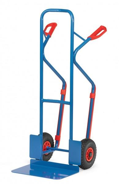 Fetra Stahlrohrkarren, breite Schaufel, Kunststoff-Gleitkufen