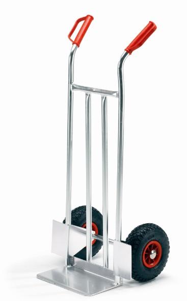 ROLLCART Kleine Alu-Stapelkarre, 150 kg Tragkraft