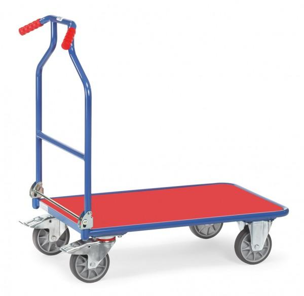 Fetra 3301 blau/rot Optiliner mit roter Holzplattform 400 kg