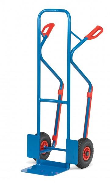 Fetra Stahlrohrkarren 300 kg, Höhe 1300 mm, mit Kunststoff-Gleitkufen