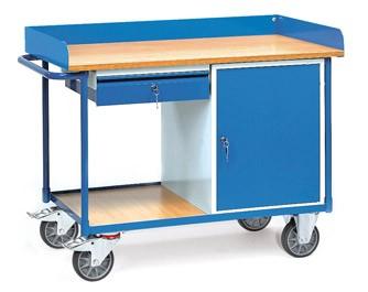 Fetra 2436 Werkstattwagen mit Schublade und Schrank, 400 kg