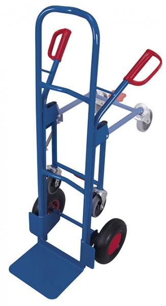 VARIOfit Stahlrohrkarre mit zwei Stützrädern, 250 kg
