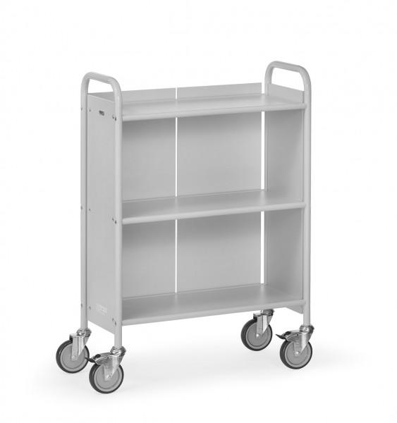 Fetra 4871 Bürowagen mit drei Böden und Rückwand, 150 kg