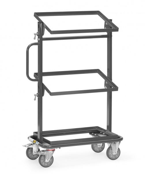 Fetra 92910 ESD-Beistellwagen mit offenem Rahmen, Ladeflächen neigbar, 200 kg