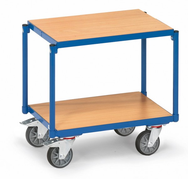 Fetra 13550 Etagen-Roller mit zwei Holzböden, bündig im Rahmen