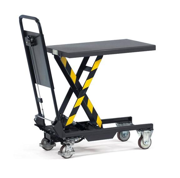 Fetra 6831 Hubtischwagen 150 kg, Rohrschiebebügel anklappbar