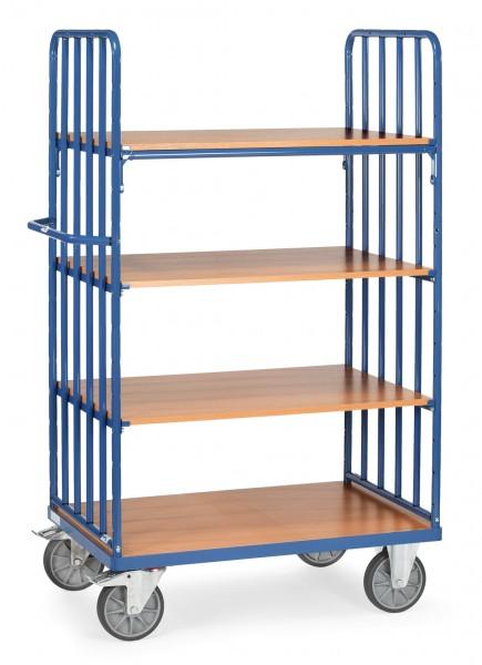 Fetra Hoher Etagenwagen mit vier Böden aus Holz, 600 kg