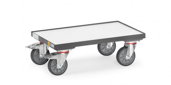 Fetra 93581 ESD-Eurokasten-Roller mit Bodenplatte und 7 mm Rand, 250 kg