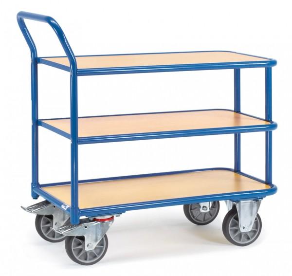 Fetra Tischwagen mit drei Holzplattformen 400 kg