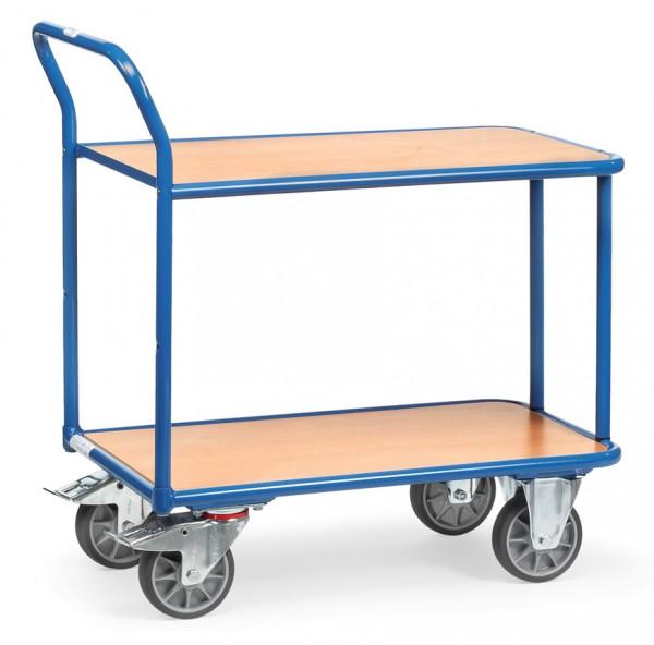 Fetra Tischwagen mit zwei Holzplattformen 400 kg