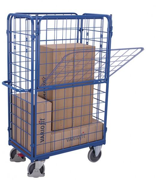 VARIOfit Längswande, halb abklappbar, für Paket- / Etagenwagen, hoch