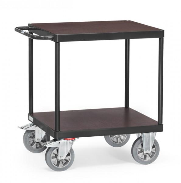 """Fetra 12497/7016 Tischwagen """"GREY EDITION"""" 1200 kg, mit quadratischer Ladefläche, mit zwei Holzböden"""